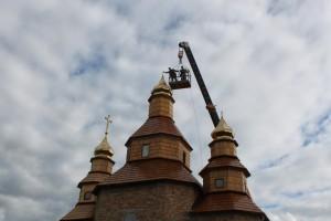 Патріарх Філарет освятив хрести першої в Україні церкви Петра Калнишевського