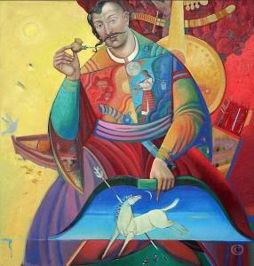 Козакам і розстріляним у 30-х лірникам львівський художник присвятив понад 200 полотен про козака Мамая