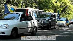 Одеські націоналісти автопробігом відзначили річницю народження командарма УПА Шухевича
