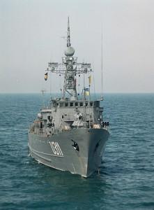 На навчаннях BLACKSEAFOR тральщик ВМС України «Черкаси» першим знайшов «потерпілого» у відкритому морі