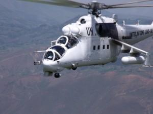 Українські вертолітники навчали авіаторів Конго патрулювати небо Африки