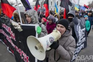 На вулиці Москви вийшли тисячі росіян на підтримку Євромайдану