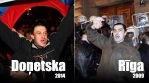 """У кривавих заворушення в Донецьку впізнали беззубого російського провокатора """"Альошу"""", над яким сміялася вся Прибалтика"""
