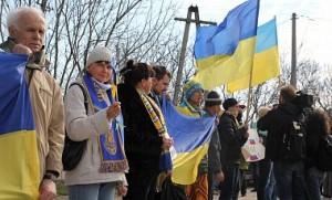 Понад 40 тисяч жителів Криму взяли участь у Всекримській мирній акції протесту проти референдуму і за єдину Україну