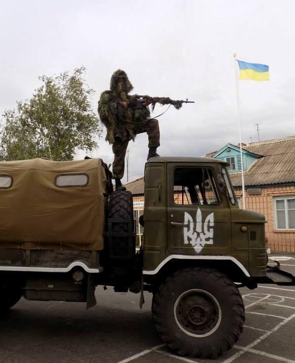 """Батальйон """"Айдар"""" успішно зачищає визволену від сепаратистів територію"""