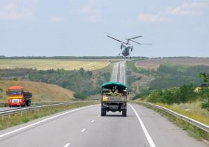 Навчання поблизу придністровського кордону батальйон «Черкаси» провів разом з танкістами, артилеристами і морськими піхотинцями