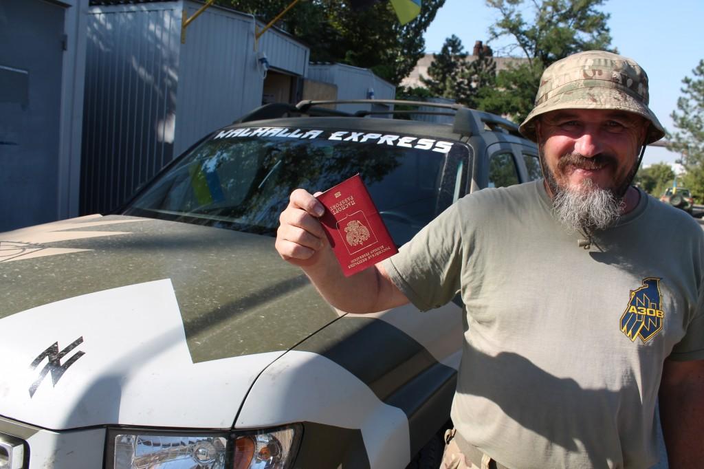Боєць «Азову» мріє обміняти свій російський паспорт на український і перейменувати Росію на Московію, а Україну – на Русь