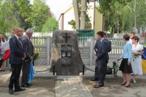 На Вінничині відкрили пам'ятний знак українським і польським воїнам, полеглим у бою проти московських більшовиків