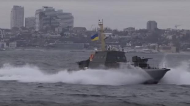 """Бронекатери """"Гюрза"""" отримали """"бойове хрещення"""" і змусили втікати російський фрегат """"Смєтлівий"""""""