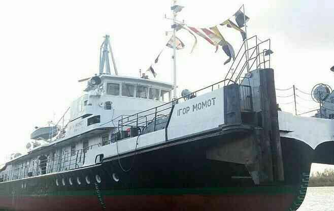 У Кілії на Одещині на воду спущено перший в Україні корабель, названий на честь прикордонника