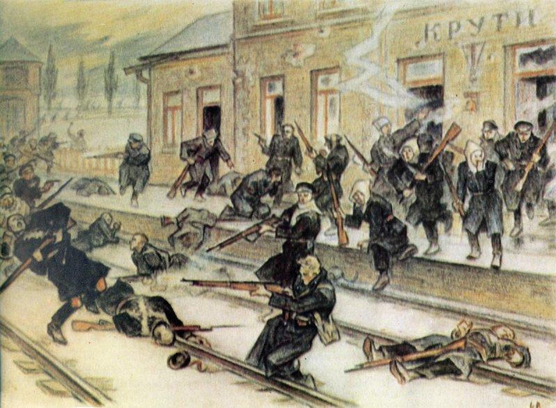 Черкащани в бою під Крутами билися, рівняючись на славу предків-козаків…