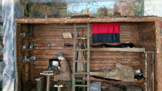 В Оршанці під Черкасами прикордонники відтворили у музеї криївку УПА