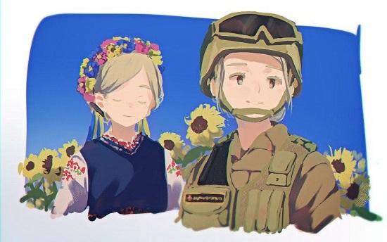 Японський художник малює українських героїв в стилі аніме