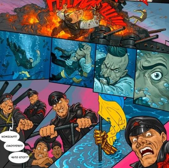 """""""Это наши морды!"""" – у російських телепропагандистів викликав жах і обурення український комікс """"Воля"""""""