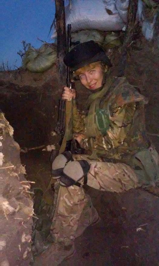 Дівчина-снайпер з УДА Яроша у День Незалежності України ліквідувала двох терористів