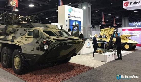 Україна вперше представила свою військову техніку на міжнародній оборонній виставці у США