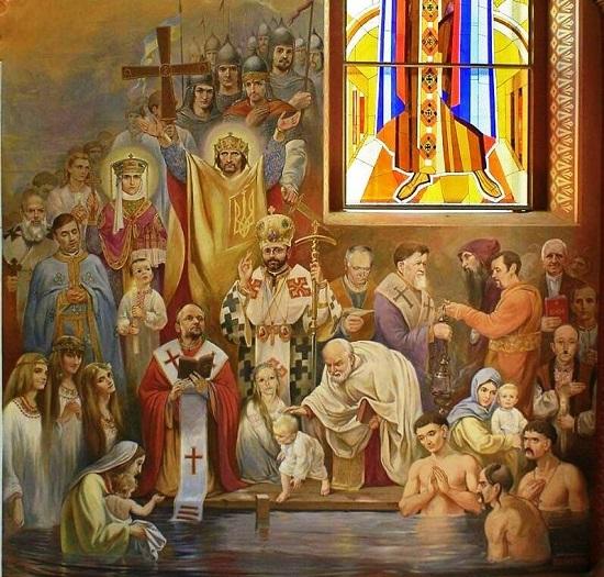 У оригінальному розписі храму на Львівщині на стінах – сцени Майдану, на стелі – сотники УПА…