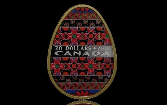 Канада випустить позолочені монети у вигляді української писанки