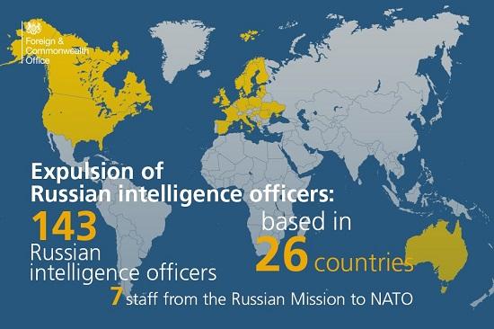 Дипломатів РФ висилають вже 27 країн, будуть видворені 144 особи