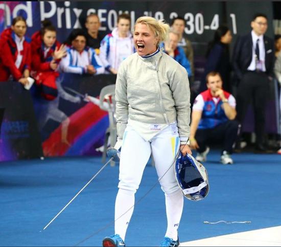 """Українка виграла у Сеулі """"золото"""" етапу Гран-прі з фехтування на шаблях"""