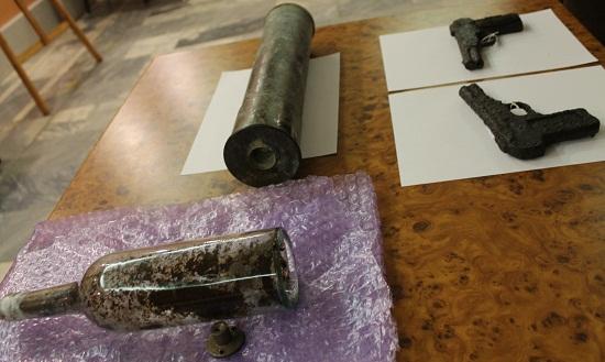 У Холодному Яру знайдено снарядну гільзу з повстанськими документами
