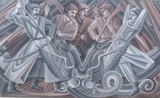 """У ювілейній виставці """"Молитва за Україну"""" знаний черкаський художник і скульптор багато творів присвятив Холодному Яру та Визвольній боротьбі"""