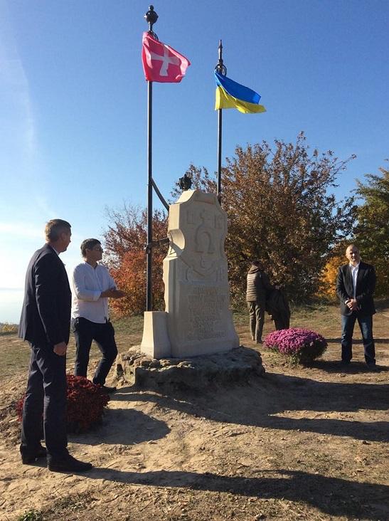 У Трахтемирові на Канівщині відкрили пам'ятний знак на честь 400-річчя перемоги над московитами