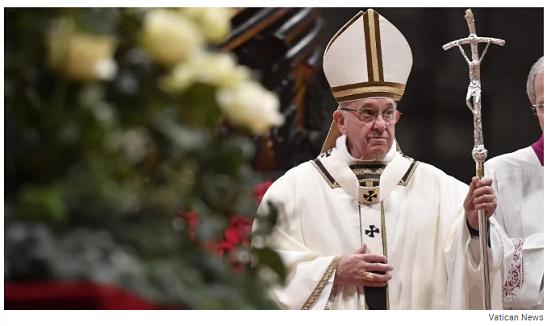 «Нехай Господь принесе полегшення любій Україні» — різдвяне послання Папи Римського