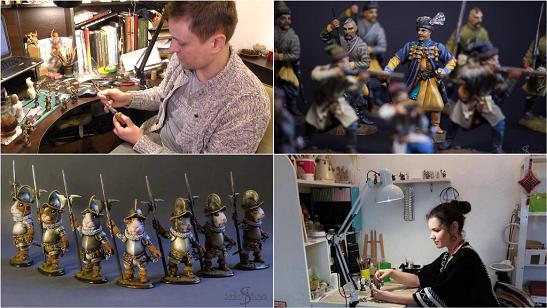 Харківський скульптор створює мініатюрну армію гетьмана Хмельницького