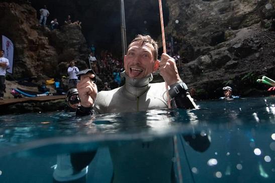 Українець встановив у Мексиці новий національний рекорд пірнання на морську глибину