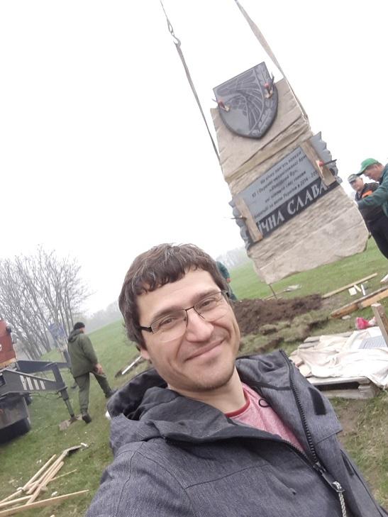 """У Холодному Яру біля Мотриного монастиря постав пам'ятник загиблим воїнам 93-ї ОМБр """"Холодний Яр""""."""