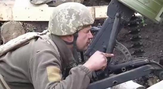 """Батальйон """"Донбас-Україна"""" перетворив на будівельне сміття позиції сепаратистів біля Калинового"""
