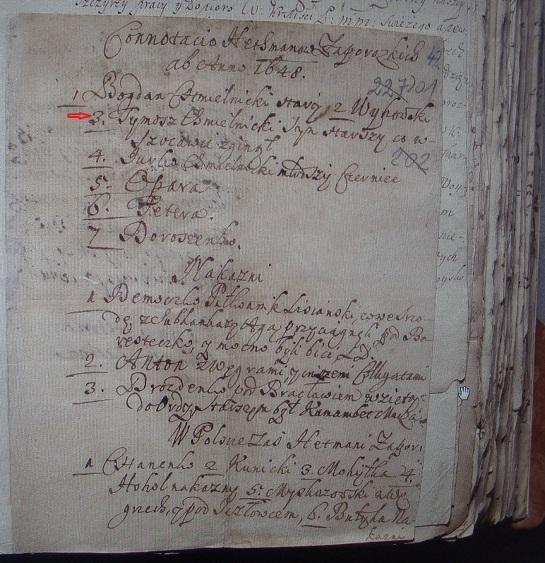 Справжня сенсація: старовинний реєстр, знайдений у Варшаві, називає Тиміша Хмельницького Гетьманом України…