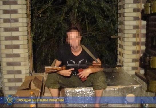 Контррозвідники СБУ піймали бойовика, який обстрілював Щастя на Луганщині