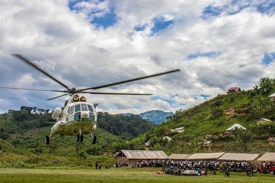 Після блискучого виконання завдань Місії ООН в африканській ДР Конго, відбулася ротація українських військових вертолітників