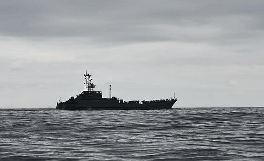 """Десантний корабель """"Юрій Олефіренко"""" повернувся у бойовий стрій ВМС ЗСУ"""