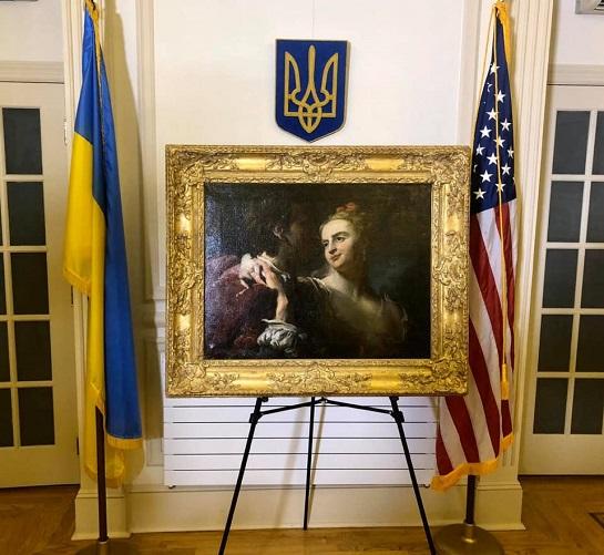 США повернули Україні картину, викрадену нацистами з Києва під час Другої світової війни