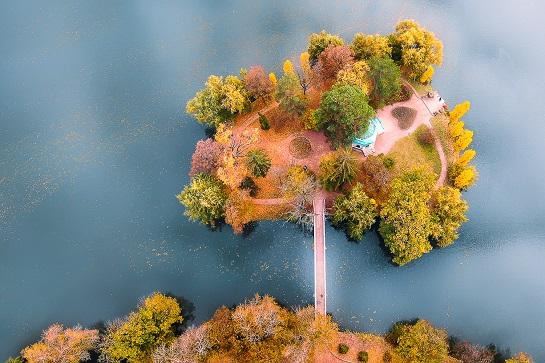 Фото, зроблене з дрона в Умані на Черкащині, визнане одним з найкращих у світі