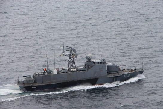 Ракетний катер ВМС України прогнав кораблі ФСБ Росії, які влаштували провокацію