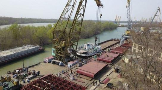 У Ізмаїлі розпочали будівництво рекордно великої баржі для річкового флоту України