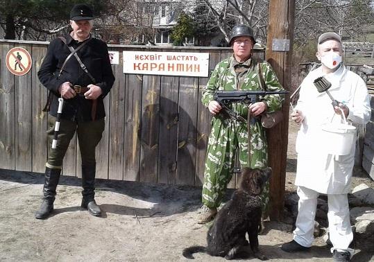 У Григорівці на Каніщині посилення карантину пропагували гумористичним перформансом