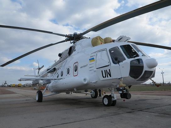 Українські військові, які вирушають до Африки з миротворчою місією, отримали три щойно модернізовані вертольоти