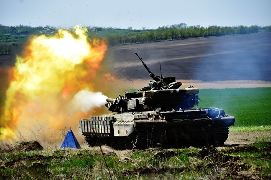 Механізована бригада ім.князя Острозького провела тренувальні танкові стрільби у зоні ООС