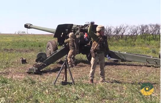 У зоні ООС проведено тренувальні стрільби з гаубиць, гармат і важких мінометів