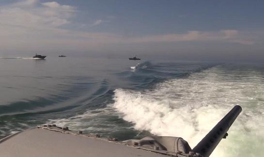 Надводні сили ООС провели бойові навчання в Азовському морі