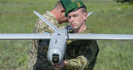 """На базі Головного центру ДПСУ під  Черкасами прикордонники тренуються вести розвідку за допомогою безпілотників """"Лелека"""""""