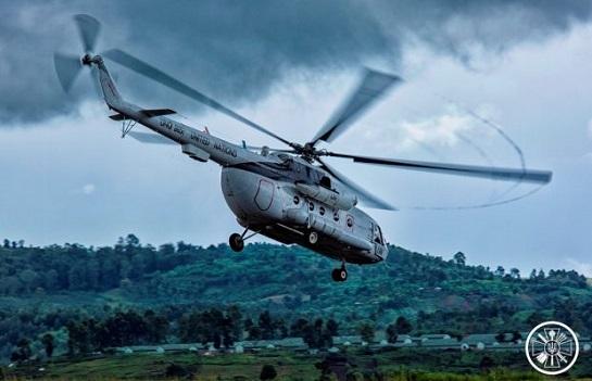 Вертолітники українського контингенту Місії ООН в Конго показали  відео буднів служби у небі над Африкою