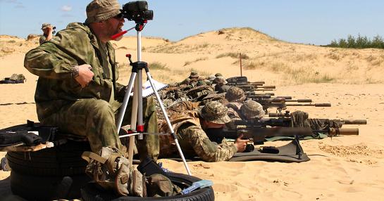 У пісках Херсонщини пройшли змагання на звання найкращого снайпера морської піхоти