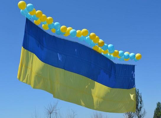 Над окупованим Донецьком замайорів синьо-жовтий прапор