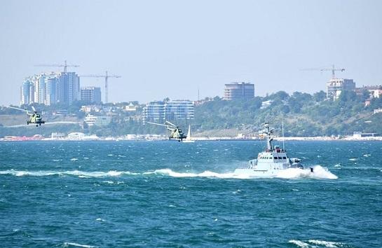 ВМС України за підтримки авiації та морської піхоти відпрацювали захист акваторії Чорного моря